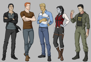 Commission - Calendril characters by DeanGrayson