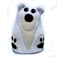 Polar Bear Plush Toy by ZodiacEclipse
