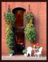Pioneer Square flower shop by rapidograph