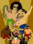 Old School Wrestlers Gold by soliton