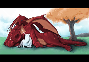 Unicorn and Dragon by interpol-p