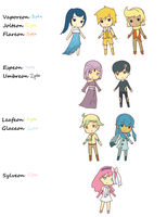 Eeveelution Gijinka Adoptables CLOSED by HIDDENloid-EXE