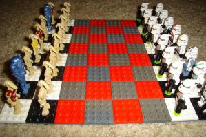 Lego Star Wars Chess Board by Taggerung1