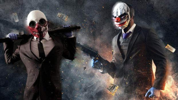Payday 2 Chains and Wolf Custom Wallpaper by DaveCreator
