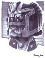 convention sketch 25 Judge Dredd by DennisBudd