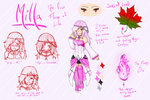 Milla reference sheet by xsoralover