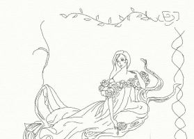 With a Rose Sketck by anelphia