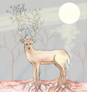 Deer Tree by shadowdolphin
