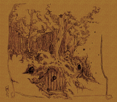 Hobbit Hole Three Trees by NMatychuk