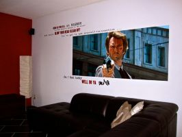 Dirty Harry Wallpainting by Stew-Illustrations