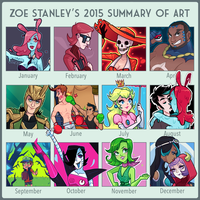 2015 Summary of Art by ZoeStanleyArts