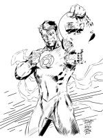 Green Lantern Jim Lee INKS ME by JamesLeeStone