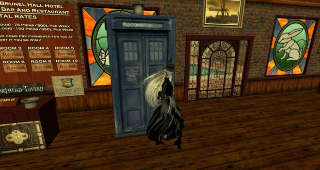 Undertaker finds a mysterious box in Second Life. by hippiewitch
