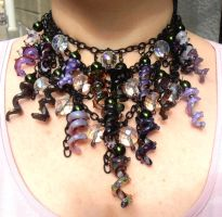 Massive squiggle tentacle necklace by fairyfrog