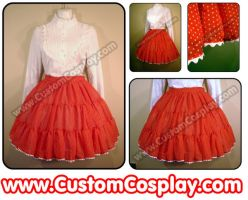 Polka dot chiffon lolita skirt by The-Cute-Storm