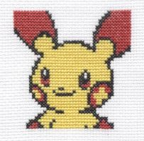 Plusle cross stitch by Lil-Samuu