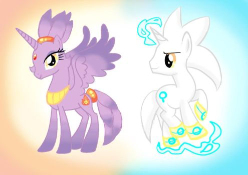 Blaze And Silver Mlp  by Amely14128