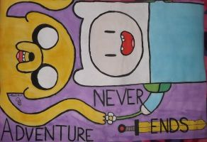 Adventure Never Ends (poster) by Mevil-Boo