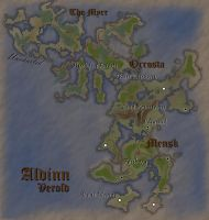 Verold, Aldinn: Fantasy Map (Dark) by Aldrnarii