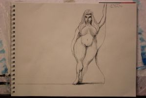 Curvy Woman Sketch by TheSkaldofNvrwinter