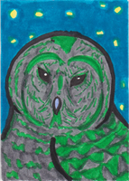 Spring Festival Owl ATC by AluminumSunset