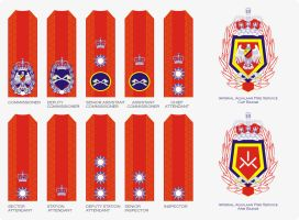 New Fire Service badges by Ienkoron