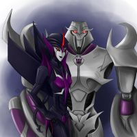 Darkstream and Megatron by Noradyn