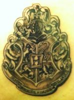 Harry Potter tattoo closeup by DarkElvenWitch