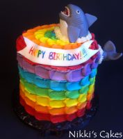 Rainbow Petal Shark Cake by Corpse-Queen