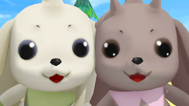 Terriermon and Lopmon (Cyber Sleuth) Polished by GuilTronPrime