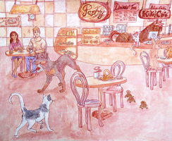 Kiki's Cafe by Gweakles