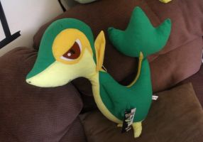 Snivy Plush by FemaleSnivy