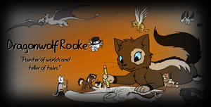 Rooke And Her Characters - ID version by DragonwolfRooke
