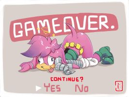 (redraw) Game over Julie-Su by cumeoart
