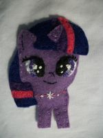 Twilight Sparkle Handmade Filly Magnet by grandmoonma