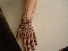 Sharpie Tattoo: Hand Bones by Awkward-Artists
