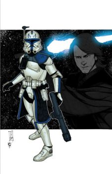 ...CT-7567 and Anakin... by thesealord