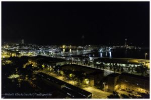 Scenery with Montjuic by swiftach