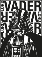 Lord Vader Sticker by jamesstanbridge