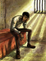 Zenigata in jail by BanishedPrince