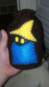 Black Mage Crotchet Dice Bag by sazriel