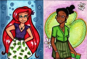 Contemporary Ariel and Tiana by starlinehodge