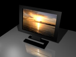 LCD Monitor in 3ds Max by deviantarnab