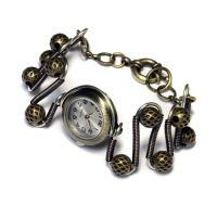 Steampunk retro-futuristic mixed metal tone watch by CatherinetteRings