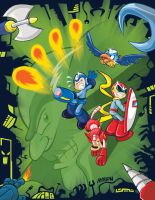 megaman, friends and foes by Andres-Iles