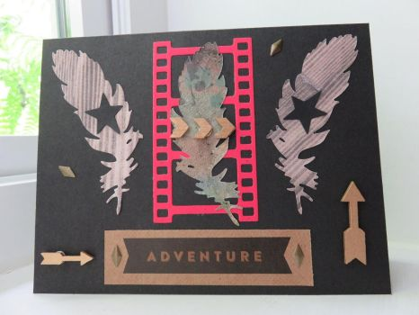 Adventure greeting card by inconsistentsea