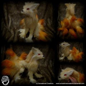 Pokemon Ninetails - OOAK Poseable Art Doll - SOLD by SonsationalCreations