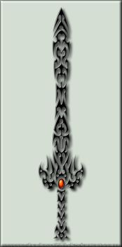 Fire Stone Sword Tribal by Shadow696
