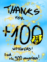 Thanks for +100 watchers by Pixel-Candy