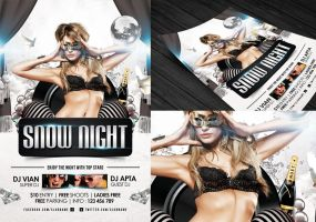 Snow Night Flyer Template by angkalimabelas